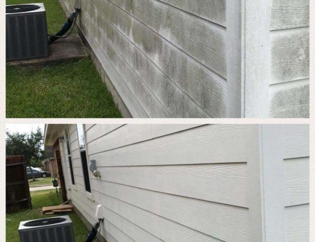 pressure washing home in fredericksburg va before and after